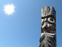 Wooden idol Stock Image