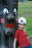 Wooden idol child Royalty Free Stock Photos