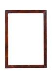 Wooden image frame isolated on white Stock Image