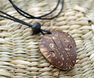 Wooden indian amulet. Nice wooden magic  indian amulet Royalty Free Stock Photography