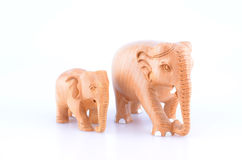 Wooden Indian Elephants Royalty Free Stock Photos