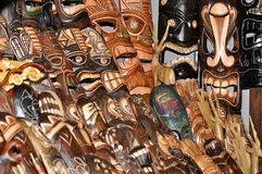 Wooden Indian Mask Stock Image