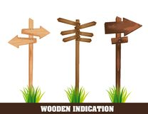 Wooden indication Stock Images