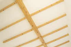 Wooden indoor beams Royalty Free Stock Images