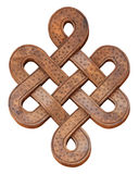 Wooden infinity knot on a white background, isolate Royalty Free Stock Image