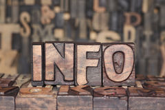 Wooden INFO concept Stock Photo