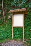 Wooden information panel Royalty Free Stock Images