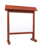 Wooden information stand Royalty Free Stock Image