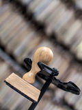 Wooden ink stamp Stock Photo