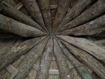 Wooden inner roof Royalty Free Stock Image
