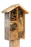 Wooden Insect House Garden Decorative Bug Hotel and Ladybird and Royalty Free Stock Photo