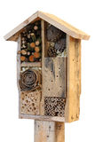 Wooden Insect House Garden Decorative Bug Hotel and Ladybird and royalty free stock photos