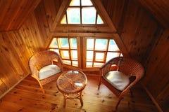Wooden interior Stock Image