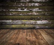 Wooden interior Stock Images