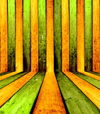 Wooden Interior Background. Colorful green & yellow wooden room background. Please visit my portfolio for more Stock Image