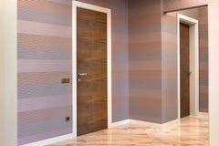 Wooden interior doors of high quality, interior design royalty free stock photos