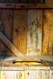 Wooden international toilet day. Old-fashioned simple rustic wooden toilet on International toilet day stock photography