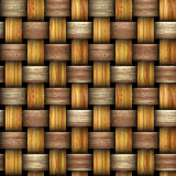 Wooden intertwined background resembling basket texture. Tri-color entwined wicker texture Stock Photo