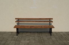 Wooden and iron bench Royalty Free Stock Photography