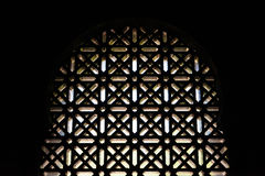 Wooden Islamic pattern on a window Royalty Free Stock Images