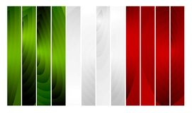 Wooden Italian flag Royalty Free Stock Photography