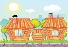 Wooden сity Stock Photo