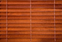 Wooden jalousie. As a background Stock Image