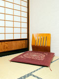 Wooden japanese chair Royalty Free Stock Image