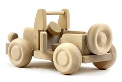 Wooden jeep Stock Photography