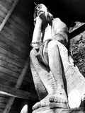 Wooden Jesus. Artistic look in black and white. Stock Images
