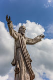 Wooden Jesus statue at the hill of crosses Royalty Free Stock Image