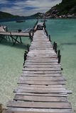 Wooden Jetty. Where tourist embark on the island of Koh Samui Royalty Free Stock Images