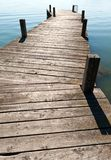 Wooden jetty Royalty Free Stock Image