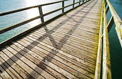 Wooden jetty Stock Photos