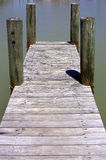 Wooden jetty. Flamingo visitors center, Everglades National Park, Florida, USA stock photography