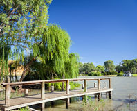 Murray River Jetty Royalty Free Stock Images