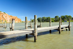 Murray River Jetty Royalty Free Stock Image
