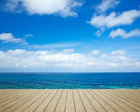 Wooden jetty beach Stock Photography
