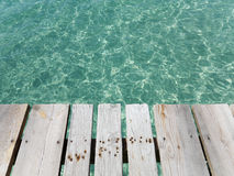 Wooden jetty at the beach. Stock Photos