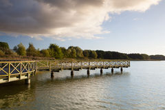 Wooden jetty in Binz city, Germany Stock Photos