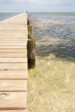 Wooden Jetty in Caribbean Royalty Free Stock Photos