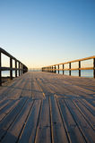 Wooden jetty, Costa Blanca royalty free stock photos