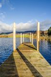 Wooden jetty on Derwentwater Stock Images