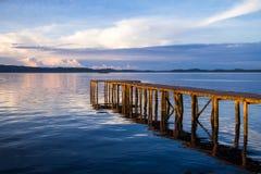 Wooden jetty. At Lahad Datu,Sabah,Malaysia Royalty Free Stock Image