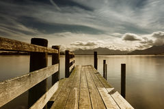 Wooden jetty 246 lake chiemsee Stock Image