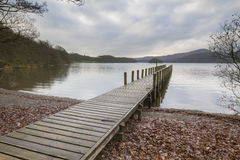 Wooden jetty  in the lake district Royalty Free Stock Photo