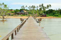 Wooden jetty leading to Koh Mak island Royalty Free Stock Photo