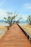 Wooden jetty leading to sea of Koh Mak island Royalty Free Stock Image