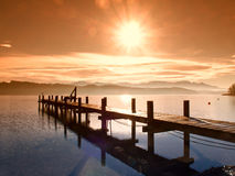 Wooden jetty   Royalty Free Stock Photo