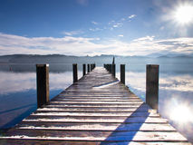 Wooden jetty 65) Stock Image